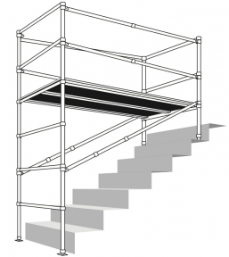 INSTANT SNAPPY STAIR SCAFFOLD Max SHeight 1.5 M