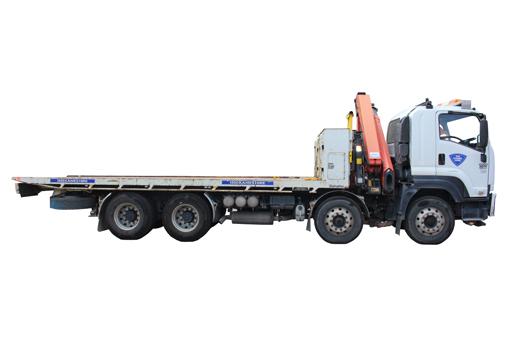HOIST/TILT TRUCK 12T P/Load Hrly Inc Driver + Toll