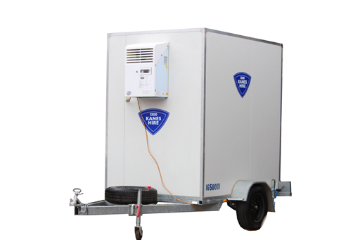 Mobile Cool Room Trailer Mounted 1.5x2.1x2.1h 240v