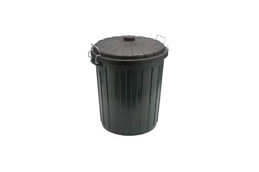 BIN GARBAGE PLASTIC 55lt GREEN c/w LID