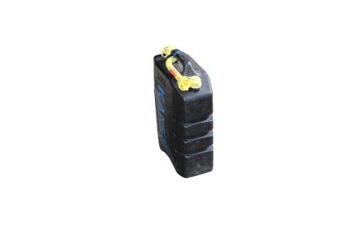 Jerry Can Black 20ltr Plastic & Nozzle